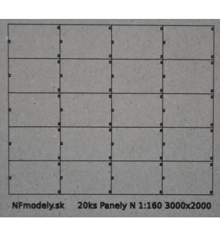 Betónové panely 3000x2000mm (N)