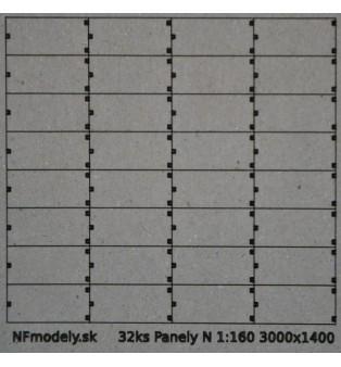Betónové panely 3000x1400mm (N)