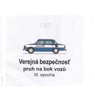 Popis na auto VEREJNÁ BEZPEČNOSŤ 1957-75 (H0)