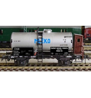 """Popis cisternového vagónika R - MLÉKO """"ČSD"""" - (H0)"""