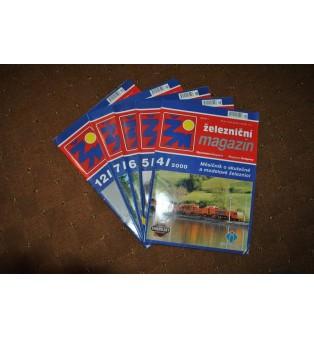 Železničný magazín - ročník 2000 (nekompletný)