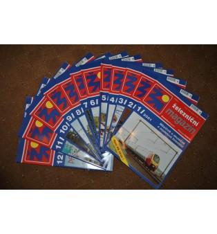 Železničný magazín - ročník 2001 (kompletný)