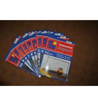 Železničný magazín - ročník 2001 (nekompletný)