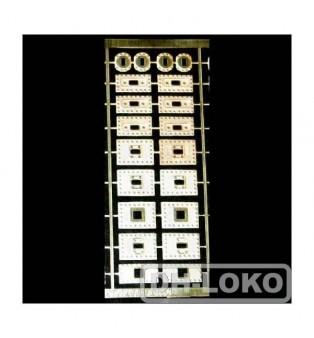 Príruby hákov lokomotív K10 (H0)