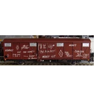 (S)prostonárodné nápisy kriedou na vagóny (H0)