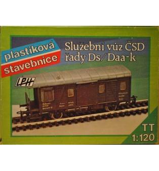 """Služobný vagón """"ČSD"""" rady Ds/Daa-k (TT)"""