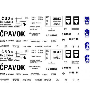 """Popis cisternového vagónika Ra """"ČSD"""" CHEMKO n.p. Strážske (H0)"""