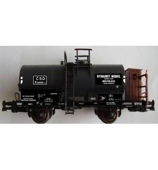 Popis cisternového vagónika R Dynamit Nobel n.p. BRATISLAVA ČSD (H0)