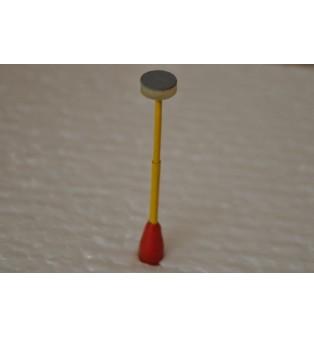 Parková lampa červeno-žltá (LED-žlté svetlo)